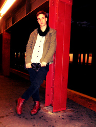 Tim Roddy - Asos Snood, Diesel Button Up, H&M Coat, H&M Jeans, Dr. Martens Boots - Between The Cheats