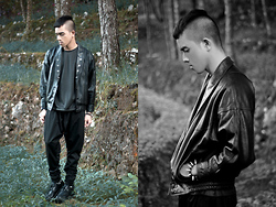 Paul Jatayna - Proud Race Leather Bomber Jacket, Proud Race Leather Shirt, Don Protasio Carrot Pants, Underground Creepers - ▲FORESTPUNK▲