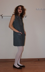 Keren O. - Secondhand Dress, From Rome Tights, Secondhand Flats - Decade Mix