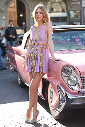 Chiara Ferragni - Fausto Puglisi Dress, Diego Dolcini Shoes - Fausto Puglisi spike dress