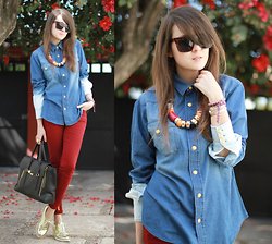 Andy T. - Diy Ombre Denim Shirt - BUGAMBILIAS