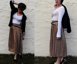 Sarah G - Vintage Bicycle Necklace, Vintage Patterned Maxi, Toms Black Classics - It's a cold and it's a broken hallelujah.