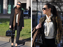 Valentina Coco - Louis Vuitton Stole, Zara Pant, Furla Bag, Berska Shoes, Ray Ban Sunglasses - Louis vuitton stole