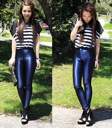 Kady Ta - American Apparel Disco Pants, Oxford Sequin Collar, Oxford Wedge - Another sunny day !