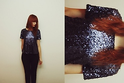Ewa B. - H&M Sequined Shirt - Stardust