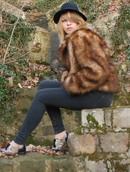 Lena Berthu - H&M Fake Fur Coat, H&M Pete Doherty's Hat :D - There she goes, a little heartache