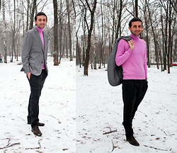 Igor_brighttoflight Kyky - Zegna Jacket, Gran Sasso Turtlenecks, Gucci Boots - The presentation LANCEL in Moscow