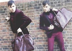 Chad Monroe - H&M Bag, Topman Chino, H&M Blazer, Zara Shirt - B...like Burgundy.