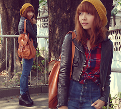 Bestie K - Forever 21 Hat, Shirt, Jacket, Topshop Jeans, Backpack, Boots - Stop making a fool out of me