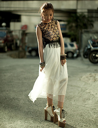 Laureen Uy - Coexist Top, Crossings Skirt, Andre Chang X F&H Heels - 7-inch Heels (BMS)
