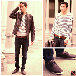 Max Wright - Hollister Faux Leather Jacket, H&M Leather Belt, Pacsun Drake's Skinniest Jeans, Sexy Swishy Hair - Casualeather