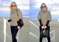 Vanda Santos - Boohoo Sweater, Boohoo Bag, Primark Jeans - Winter Beach