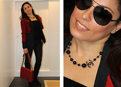 Valentina Coco - Chanel Jacket, Chanel Bag, Chanel Sunglasses - Chanel a day in Red