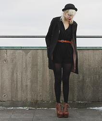 Therese Ahlström - H&M Jacket, Playsuit, Hat, Jeffrey Campbell Shoes - GREY SKIES CLOUDING UP EVERYTHING