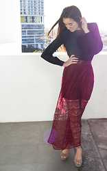Simonett Pereira - Goodwill Silk Blouse, Forever 21 Lace Maxi Skirt, Steve Madden Grettta Shoes - I Hope This Gets To You