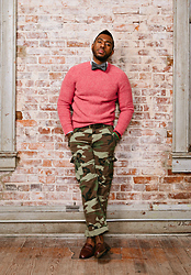 RICH CAINE - J. Crew Bow Tie, Ralph Lauren Shaggy Wool Sweater, All Son Slim Fit Camo Slacks, Bally Penny Loafers - LOVE $ WAR