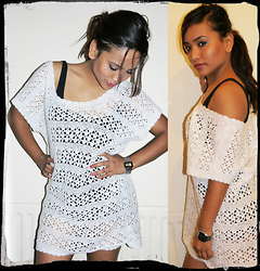 Suzi Shrestha - Vintage Knitted Dress, H&M Vest Dress - Through the peephole
