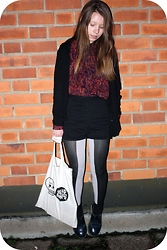 Emma - Monki Blouse, American Apparel Shorts, Monki Tights, Cheap Monday Bag, Dr. Martens Vintage Docs - Bye bye to the too good to be true kind of love
