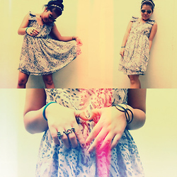 Nina Bernice Labos - Dress, Headband - And get in my arms fast as you can ♥