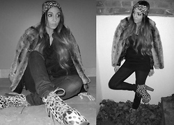Kristy Araujo - Free People Turban, Vintage Fur Coat, Jeffrey Campbell Shoes - Animalistic