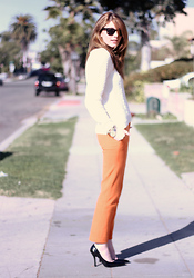 Jade Elise - Asos White Label Pants - Orange is fun
