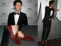 Filippo Fiora - Dior Homme Suit, Dior Homme Shirt, Giacomorelli Pony Shoes - IWC party!