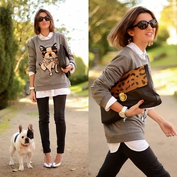 Alexandra Per - Blanco Sweater, Pull & Bear Pants, Bershka Shoes, Su Shi Bag, Giorgio Armani Sunglasses - Double Pepa!!