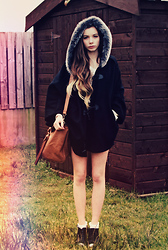 Joanna Kuchta - Primark Cape, Topshop Black Wedges, Primark Cute Socks - Runaway Dreams