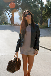 Fasionable Room By Maria - Ray Ban Sunglasses, Pimkie Biker, Primark Dress, Louis Vuitton Handbag, Blanco Booties, Dolce & Gabbana Watch - Look like spring