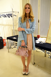 Chiara Ferragni - Philosophy By Alberta Ferretti Coat And Dress, Miu Bag - Like a candy