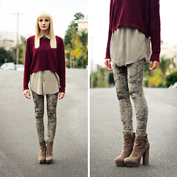 COURTNEY B - Insight Crushed Velvet Leggings, Dolce Vita Suede Heels - Lend me your hand and we'll conquer them all
