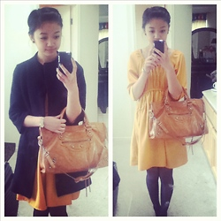 Jasmine H. - Target Mustard Dress, Moto, Forever 21 Swing Coat - Behind Every Great Love is a Great Story
