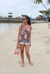 Lee Piquero - Louis Vuitton Sunnies, Star Shorts, Ds Style Shoes, Tlb Necklace, Sheer Top - I was looking for you.
