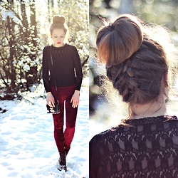 Wioletta Mary Kate - Romwe Leggins, Papilion.Pl Shoes - Bun & Braid