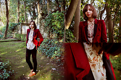 Kissmequick Girl - Oysho Floral Blouse, Zara Red Blazer, Zara Oxfords - FROM FLORENCE WITH LOVE