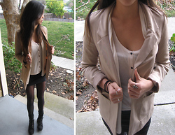M. Satsuki - H&M Tan Blazer, H&M Crop Tank, Old Navy Black Boots - If you're so smart, tell me why are you still so afraid?