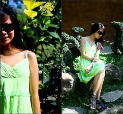 Aoi Ue Imperial - Kate Torralba X Maldita Green Summer Dress, Miu Brown Shades, Australian Something =)) Fringe Gladiators - Brilliant Minds Think Green