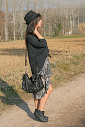 Fasionable Room By Maria - Forever 21 Blouse, Miu Bag, Diy Skirt, H&M Booties - Boho