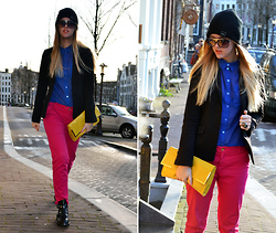 Linsey Sijmons - Zara Pants, Obey Hat, Yves Saint Laurent Ring, Romwe Shoes - THE COLOR FACTORY