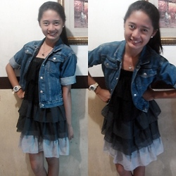 Princess Manuel - Tally Weijl Flowy Dress (Wide Layers), Osh Kosh Denim Jacket (Folded) - Simplicity at its best ☺