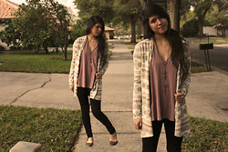 Kaila Mo - Pacsun Cardigan, Thrifted Top, Urban Outfitters Necklace - Cool cardi...
