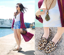 Kryz Uy - Clothes For The Goddess Long Cardigan, Romwe Studded Slippers, Island Girl Crushed Glass Necklace, Louis Vuitton Messenger Bag - We can dance in the sand till the tide rolls in