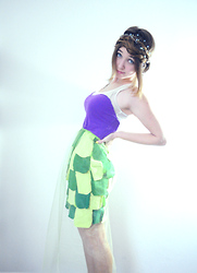 Mariah Nicole - Handmade Purple Sweetheart Top, Handmade Green Scales Skirt, Handmade Green Sheer Tulle Skirt - The Little Mermaid
