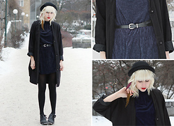Therese Ahlström - Monki Jacket, Second Hand Dress, Hat - BLUE VELVET CLOTHING