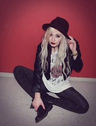 Sina Moon - H&M Sparkling Tights, H&M Leather Jacket, Docs - Until Death do us part...