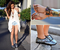 Laureen Uy - Wagw Top, Cotton On Shorts, Fayeness Shop Bangle, Butingtings Charm Bracelet/Ring, Soleil Flats - Sweet and Simple (BMS)