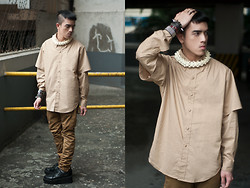 Paul Jatayna - Proud Race Buttondown Shirt, Topman Carrot Trousers, Underground Creepers, Os Uroboros Necklace - POSITIVETENSION