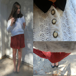 Maddy C. - Forever 21 Forever21 Dress, Vintage Sweater, Kate Spade Shoes - Cozy Sweater