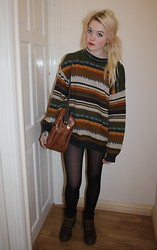 Layna Myhra - Prim Vintage Jumper, Charity Brown Satchel, Dm's - Penny