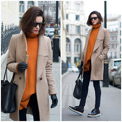 Hedvig ... - Oasis Coat, Cos Knit, Cheap Monday Jeans, Prada Shoes, Céline Bag - Cold lazy Sunday